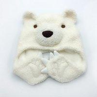 animal cartoon urso chapéu gorro impulso suave do bebê à prova de vento earmuffs cap miúdos ao ar livre bonés de esqui quentes TTA2102-2