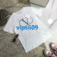 High end women girls Short sleeve tees shirt letter print ro...