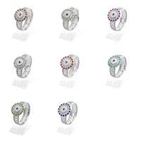 Noosa Snap Button pulseras Crystal rhinestone 18 MM Ginger Snap charm Wrap Bangle para las mujeres de moda de joyería intercambiable regalo