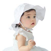 Малыш Младенческой Девочка Открытый Ведро Шляпа Лето Солнце Пляж Капот Шапочка Шапочка