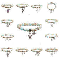 handgefertigt agalmatolite Naturstein Perlen Armband einzigartigen Charme Armbänder für Frauen charkra Yoga Schmuck Beste Freunde Geschenk