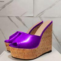 Olomm Hot femmes Sandales plate-forme Slingback Sexy Wedges Escarpin Sandales à bout ouvert 7 couleurs Party Chaussures Femme Etats-Unis Plus Size 5-20