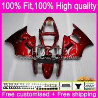 OEM La inyección del cuerpo para Kawasaki 600cc ZZR600 05 06 07 08 59HM.15 ZX600CC ZZR600 ZZR 600 2005 2006 2007 2008 Brillante de color rojo 100% Fit carenados