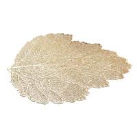 Placemat Tapete Matim Simulação Folha de Planta PVC Decorativo Mesa Almofada Coasters Casa Decoração