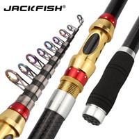 JACKFISH Spinning Fishing Pole 1.8M - 3.6M Portable Spinning Canne à Pêche 98% Carbone Mer Tige De Mer
