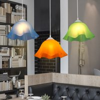 Blue Purple Green Yellow 220V Modern Pendant Lampshade penda...