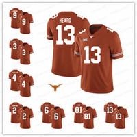 Custom Texas Longhorns College Football orange Cosido Cualquier Nombre Número 76 Kent Perkins 21 Kyle Porter NCAA Jerseys S-3XL