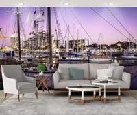 Benutzerdefinierte 3d Wandbild Yacht Tapete für Wände in Rollen für Wohnzimmer Schlafzimmer TV Hintergrund Tapete Dekorationen für zu Hause