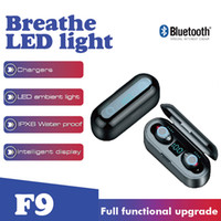F9 TWS with Breathe LED light Wireless Earphone Bluetooth V5...
