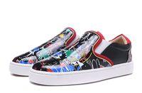 Yeni Lüks Tasarımcı Erkek Kırmızı Bottoms Ayakkabı Düşük En Moda Süet Deri Dikenler Loafers Perçinler Casual Tekne Flats Boyut Ucuz For ABD 12 EUR 46