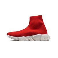 Hot Sale-Speed Trainer lässige Stiefel schwarz, weiß, blau flache Mode Socken Stiefel Männer Frauen heiße Turnschuh-Trainer Runner Stiefel Größe 36-45