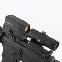 Économie tactique UH-1 holographique Scope de points rouges et VMX-3T Loupe Combo Chasse Fusil de chasse 3x Sight Sight avec interrupteur à la face Mount STS
