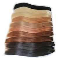 نسج الشعر إهاب الانحياز الشعر الأسود براون أشقر أحمر الإنسان حزم 8-26 بوصة البرازيلي مستقيم ريمي الشعر التمديد بيع 2 أو 3 حزم
