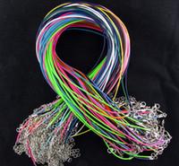 2mm mistura cores cera couro cobra colar cadeia 45cm + 5 cm corda corda corda fio extender com fecho de lagosta diy moda jóias componente