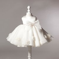 Girls Party Dress 0- 24month Baby Girls Clothes White Girls W...
