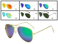 High Quality Polarized Sunglasses for Men and Women Outdoor Sport metal Dazzle colour Sunglasses 6 colors Shades Sunglasses Women Glasses