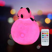 leadleds 3D Moon light Silicone Touch Sensor Remote LED Nigh...