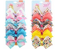 9 Set Mix color JOJO hair Bow girl colorful print Barrettes ...
