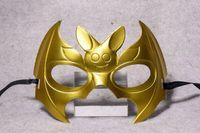 Orelha Halloween Adorável Metade cara longa Batman Pintar Máscara de Veneza bola 20pcs Máscara / lot WL63