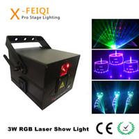 3W 3000mW diodo mostras clube equipamento de laser Ilda danceroom noite luz de desempenho mostram Laser RGB Animação feixe