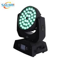 Kafa Lyre Yıkama Etkisi Işık LED Aydınlatma Hareketli Sahne Lyre Işın 36 * 10W 4in1 RGBW ZOOM LED
