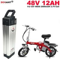 Batería de litio de bicicleta eléctrica 48v 12Ah Batería de litio para Bafang BBS02 250W 550W Motor E-bici de la batería 48v Envío gratis