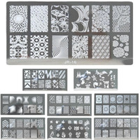 Aufkleber Aufkleber Mode Streifen Design Nail Art Bild Stempel Stamping Platten Maniküre Vorlage DIY Polnische Schablone Werkzeuge