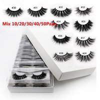 Wholesale Eyelashes 10 20 30 40 50pairs 3D Mink Lashes Natur...