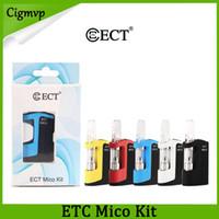 클래식 ECT Mico 키트 Vape 카트리지와 350mAh VV 박스 모드 0.5ml 1.0ml 세라믹 코일 대 키 박스 배터리 0266087