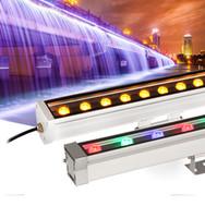 5個/ロット12W 18W 24W 36W 48W DC12V 24V屋外LED反射鏡洪水洗濯機ランドスケープライトDMX512 RGB壁リニアランプのフラッドライト