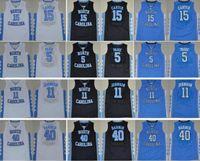 NCAA North Carolina Tar Heels Vince 15 Carter Jersey 5 Marcus Paig 11 Brice Johnson Harrison 40 Barnes College Basketball Jerseys
