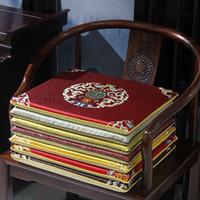 Пользовательские роскоши Удачи Удачи Китайский стиль Silk Brocade Seathions Подушки для обеденного стула Кресло Диван Маты Нескользящие сидячие колодки Дом декоративный