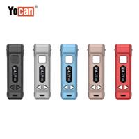 100% ORIGINAL YOCAN UNI PRO VAPE CAX KIT MOD 650MA PRECIO DE PRECIO VARIABLE VVIABLE 2.0V 4.2V Batería E Cigarrillo Vape Pen Fit Todo Cartucho de Vape