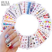 Designs 50pcs mixte Nail Sticker Beauté Fleur Transfert d'eau Decal Watermark Nail Art Décoration Manucure Watermark CHM50-1