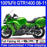Injectie Mold Lichaam voor Kawasaki GTR1400 Lichtgroene Top 08 09 10 11 255HM.12 GTR-1400 08 11 GTR 1400 2008 2009 2010 2011 Verkortingsset