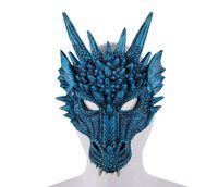 3D Dragon Mask Carnaval Party Costume Animal Dragon Cosplay Masquerade Visage Masque PU Mardi Gras Masque