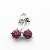 20pcs lot Crystal Alloy Cherry Dangle Charms Lobster Clasp H...