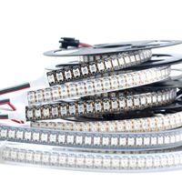 1M DC5V SK6812 WS2812B 144 LED / m Blanco Negro 144 LED / m SMD 5050 RGB Sueño direccionable Color Pixel LED Tira de luz IP20 IP65 IP67