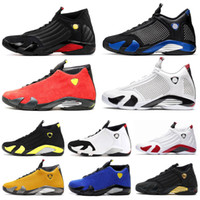 Air jordan retro 14 14s Moda candy cane definindo momen Universidade Red Mens Treinadores Respirável Sapatos