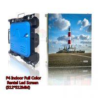 اللون كامل داخلي لوحة TV LED الفيديو الجدار / داخلي شاشة عرض ملونة بالكامل P4 LED / P4 داخلي لوحة LED تأجير حجم 512x512mm مجلس الوزراء
