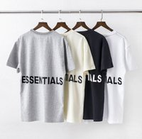 Mens Designer T-shirt Hiphop Fog Base de Double-Track Shirt Essentials imprimé Lettered T-shirt à manches courtes Mode Taille asiatique