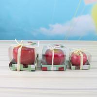 التفاح شكل عيد الميلاد شمعة الجدة الفاكهة شمعة الإبداعية عشية عيد الميلاد هدية المعطرة بوجي عشية عيد الميلاد الطرف الديكور DBC VT0377