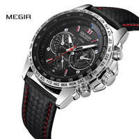 MEGIR Hommes Montres Top Marque De Luxe Quartz Montre Hommes Mode Casual Lumineux Étanche Horloge Relogio Masculino 1010