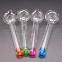 7 farbe handcraft pyrex glas ölbrenner rohr mini rauchen hand rohre dicke bunte nagelrohr