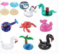 Copo Inflável Flutuador Flamingo Copo Titular Coasters Inflável Drink Holder para Piscina Colchões de Ar para Cup Partido Suprimentos