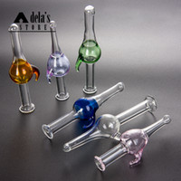 Tapa de carburador de color largo OD: 20 mm Fit Orion Quartz Banger Flat Top Round Bottom Glass Bong Dab Oil Rigs Pipe de agua 771