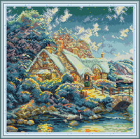 House in The Hills home cross stitch kit ,Handmade Cross Stitch kits bordado Needlework contained print on canvas DMC 14CT / 11CT