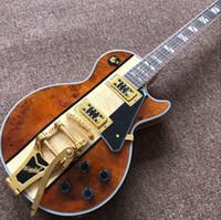 Yeni standart Özel, Sunburst renk Kaplan Alev üst elektrik guitar.custom gitaar, İşi 6 Strings guitarra.