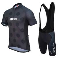2021 Strava Pro Bicycle Team Manica corta Maillot Ciclismo Uomo Jersey Jersey Kit Summer Traspirante Cycling Abbigliamento set