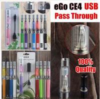 100% di qualità EGO-T CE4 Penna VAPE BLister Blister Kit Sigaretta elettronica Sigaretta elettronica 650 900 1100 MAH Ugo Micro USB PassHrough 510 BATTERIA DHL DHL